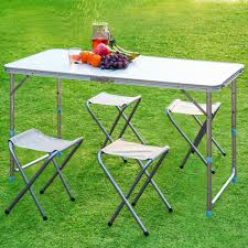 aluminum portable picnic table finether portable adjustable outdoor table ultralight height