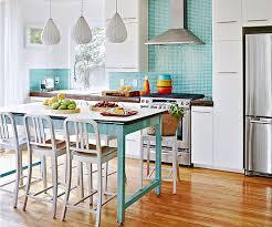 white kitchen cabinets with aqua backsplash modern furniture 2013 white kitchen decorating ideas from bhg