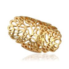 long rings design images Wholesale stylish plated gold long width openwork ring in us size jpg