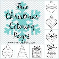 free christmas coloring pages the frugal fairy
