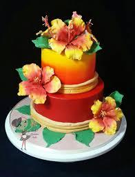 themed cakes hawaiian themed cake 45 cakes cakesdecor