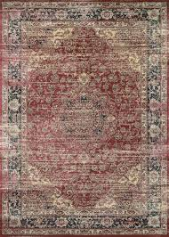 Faded Persian Rug by Zahara Collection Persian Vase