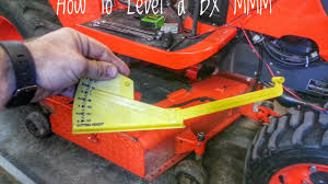 how to level your bx mid mount mower youtube