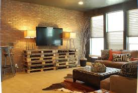 interior wonderful industrial living room decor with lovely wall
