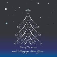 shiny tree blue new year background vector background