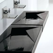 sinks bathroom sinks sink trough large small with two faucets