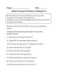 intensive pronoun worksheet free worksheets library download and