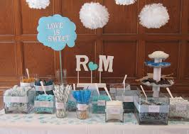 Teal Table L Cake Table Displays For Engagements Table For Their S L