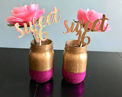 sweet 16 table decorations sweet 16 centerpiece etsy
