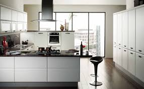 Modern Kitchen White Cabinets Brilliant Modern White Kitchen Decorating Clear Cabinets
