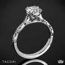 Crown Wedding Rings by Tacori 57 2 Rd Sculpted Crescent Elevated Crown Diamond Engagement