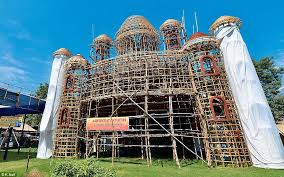 Decoration Of Durga Puja Pandal Nothing But The Best For Durga Delhi Decks Up For Festive Fun As