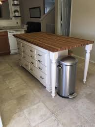 kitchen islands with drawers kitchen island made with dresser butcher block pinteres