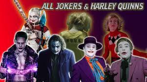 Joker And Harley Quinn Halloween Costumes by Every Live Action Joker U0026 Harley Quinn Jack Nicholson Heath