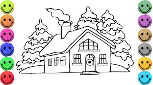 fairy tales house coloring pages drawing for kids learn colors