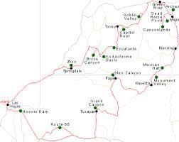 map las vegas and grand southwest usa itineraries grand circle