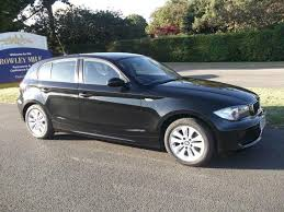 black bmw 1 series used bmw 1 series car 2007 black petrol 116i es 5 door hatchback