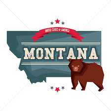 Montana Map by Montana Map With Grizzly Bear Vector Image 1541151 Stockunlimited