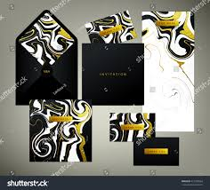 wedding print set invitation card menu stock vector 413330854