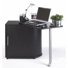 bureau pivotant bureau informatique noir pivotant et rideau imprimé simmob