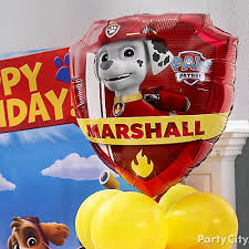 paw patrol character balloon idea party