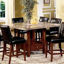 white marble top dining table set 67 most awesome marble top kitchen table set faux cream dining black