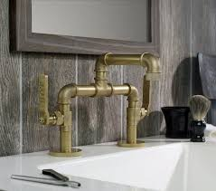 Kitchen And Bathroom Faucet This Bathroom Faucet Looks Like An Industrial Pipe Pipe
