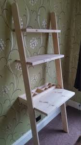 Leaning Shelves Woodworking Plans by Leaning Ladder Desk Househomemade Us Do It Yourself Home