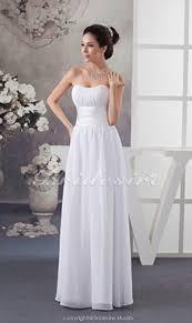 a linie herzausschnitt knielang chiffon brautjungfernkleid mit gestupft p551 bridesire weiß brautjungfernkleider weiß