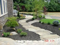 ideas creative landscaping ideas for front of house with stone
