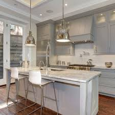 light gray kitchen cabinets with granite 75 beautiful kitchen with gray cabinets and glass tile
