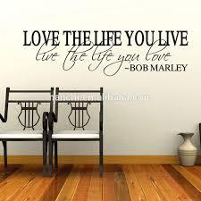 chambre bob marley amour la vie vinyle citation bob marley sticker décor à la maison