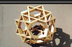 geometric wood sculpture rnd modelshop geodesic domes polyhedra models by nelson