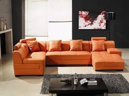 Orange Leather Sectional Sofa Modern Concept Custom Leather Sectional Sofa With Tosh Furniture