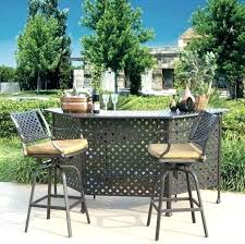 Bar Set Patio Furniture Outdoor Patio Bar Set Solid Outdoor Patio Table Bar Height