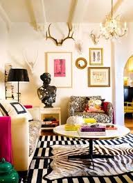 shabby chic living room and black white area rug with vertical