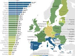 Europes Map by Europe U0027s Youth Unemployment Crisis In One Grim Map Business Insider