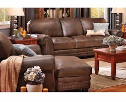 Denver Leather Sofa Carson Grain Leather Sofa Traditional Denver By