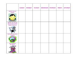 behavior charts template printable for kids activity shelter