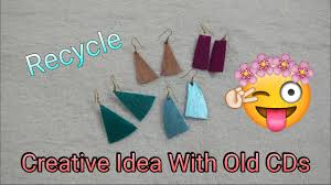 cd earrings how to make earring at home creative ideas with cds