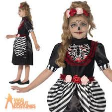 sugar skull costume sugar skull costume child day of the dead skeleton fancy