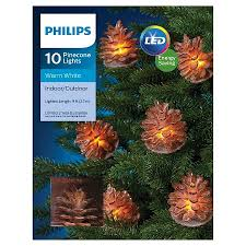 Philips 10 Ct Led Sugared Pinecone String Lights Target