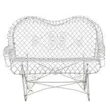 Garden Loveseat Antique Wire Garden Loveseat At 1stdibs