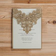 laser cut wood invitations personlize gold laser cut wedding anniversary invitation card with