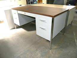 used metal office desk for sale metal desks used metal desk with double pedestals and laminate top