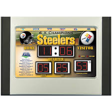 team sports america nfl team scoreboard alarm clock 205449