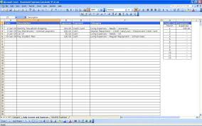Excel Spreadsheet For Monthly Expenses Monthly Invoice Template Excel Doc For Expenses Free Expense With