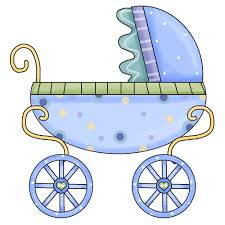 blue baby stroller clipart cliparts art inspiration