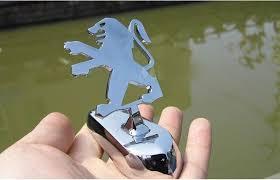 3d chrome peugeot ornament badge sticker 206 207 307 peugeot