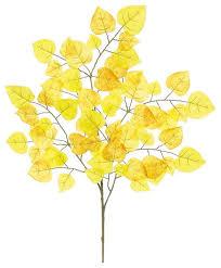 aspen leaf branch 24 gold contemporary artificial plants